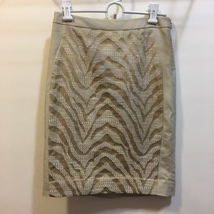The Limited Skirts - The Limited tan white tiger animal print skirt 0